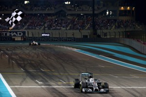 Abu Dhabi GP Chequered flag - (Credit: zimbio.com)