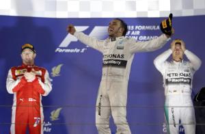 Bahrain Grand Prix 2015 Podium - Credit: REUTERS/Ahmed Jadallah
