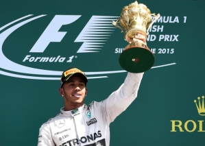 Lewis Hamilton, British GP Podium 2015 - Credit- www.newsletter.co.uk