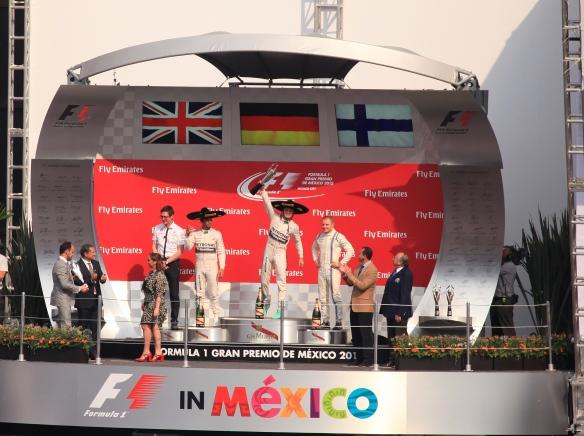 Mexico GP 2015 podium - copyright Luis urquiza