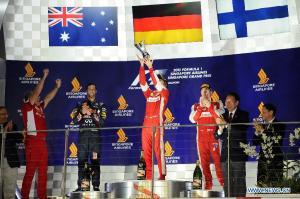 Singapore GP podium 2015 - Copyright -news.xinhuanet.com