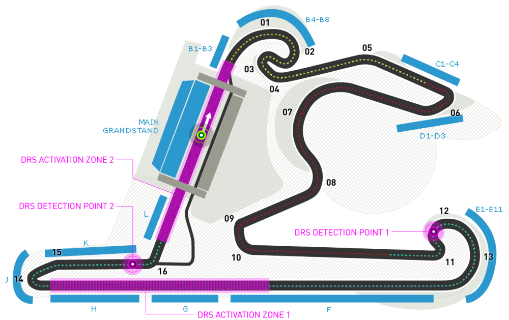 Track guide to the Shanghai International Circuit.