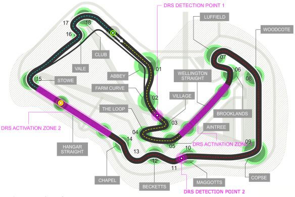 A track guide to the Silverstone International Grand Prix circuit - Image from Formula1.com