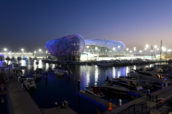 Yas Viceroy Abu Dhabi at Sunset by Nick Webb