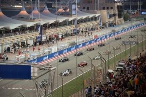 2014 Bahrain Grand Prix - cars filing onto the grid. Credit: Faris Algosaibi