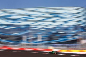 Sochi Autodrom, Sochi, Russia. Sunday 12 October 2014. Marcus Ericsson, Caterham CT05 Renault. World Copyright: Charles Coates/LAT Photographic. ref: Digital Image _J5R3203