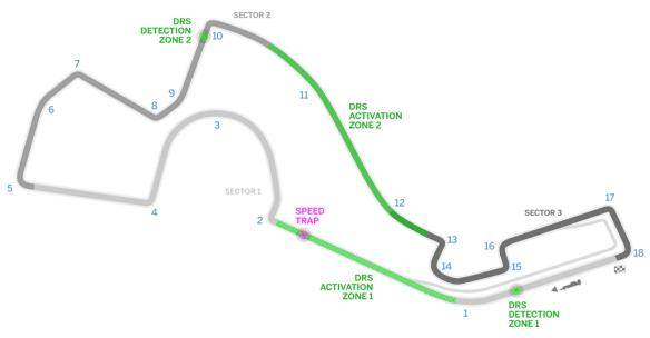 Sochi Autodrom GP Circuit track layout - copyright: Formula1.Com