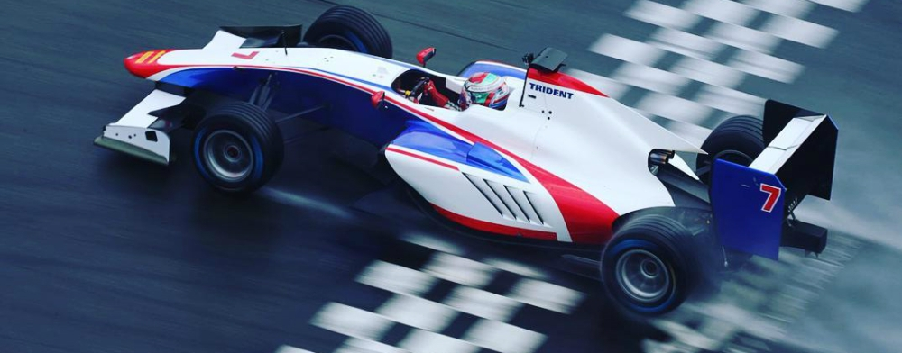 Antonio Fuoco in the Trident Team GP3 2016 car during its pre-season Shakedown - Photo credit: GP3 Series