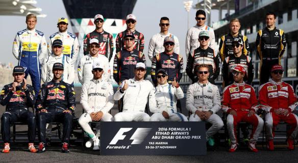 Formula One, class of 2016.