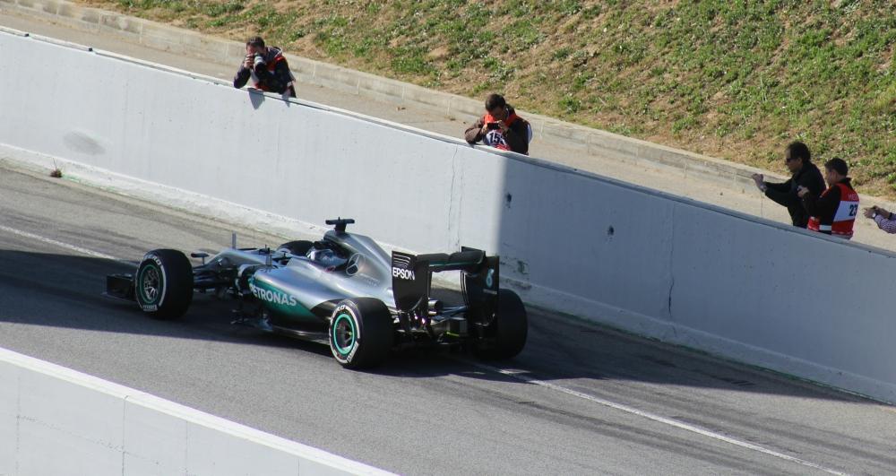 Mercedes F1 Testing 2016 - Credit Rachel Clarke