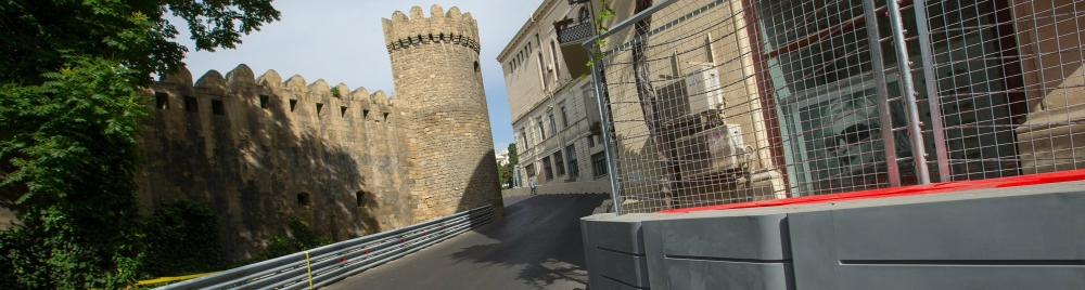 European GP - F1 Baku - Castle run - cropped for header (Copyright @BakuCityCircuit)