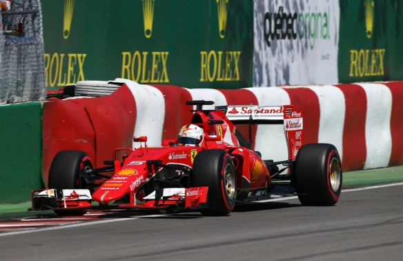 Vettel at the 2015 Canadian Grand Prix. Credit CrazyLenny2