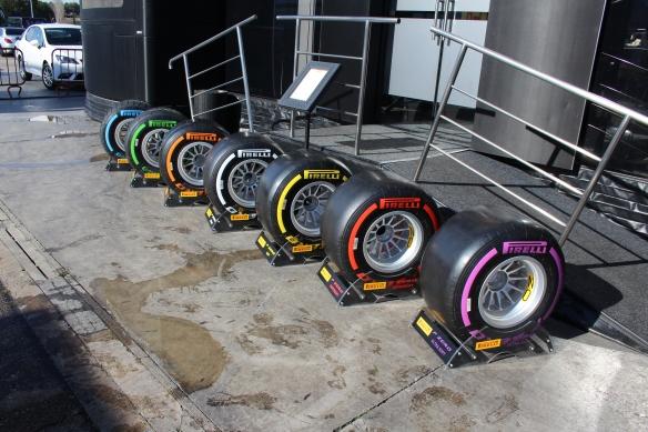 Pirelli's 2016 tyre line up - Credit Rachel Clarke