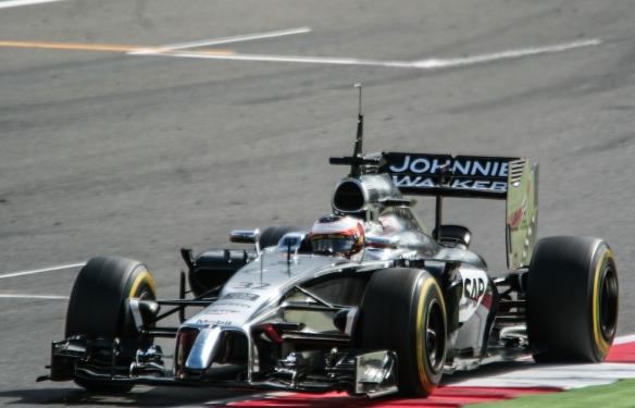 Vandoorne - McLaren testing 2014 - Credit Franziska