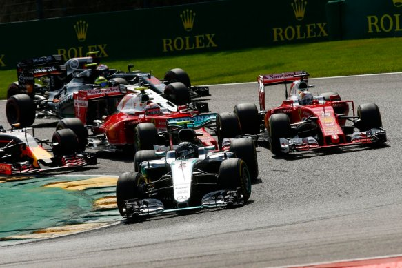 2016 Belgian Grand Prix race start. Copyright: Mercedes AMG F1 Team