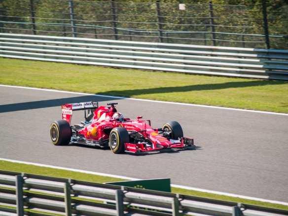 Sebastian Vettel at the 2015 Belgian GP. Photo credit: Mr Rowlie
