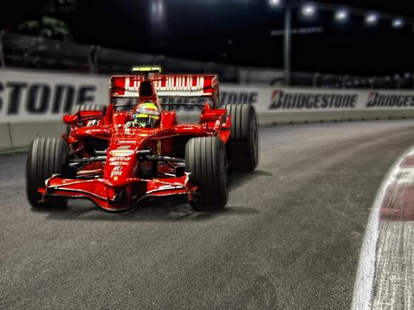 Felipe Massa during the 2008 Singapore Grand Prix. Photo Credit: Paulo Alano.
