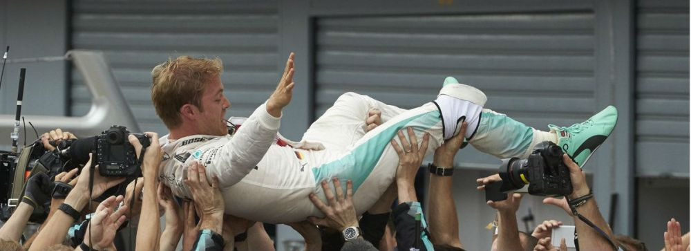 Nico Rosberg celebrating Italian Grand Prix victory. Copyright: Mercedes AMG F1 Team.