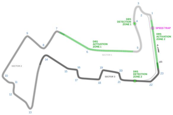 Marina Bay Street Circuit track map. Copyright: Formula1.com.