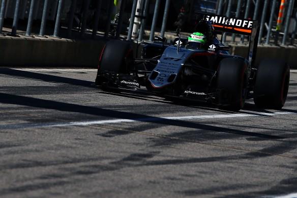 Nico Hulkenberg during the 2016 USGP. Copyright Force India