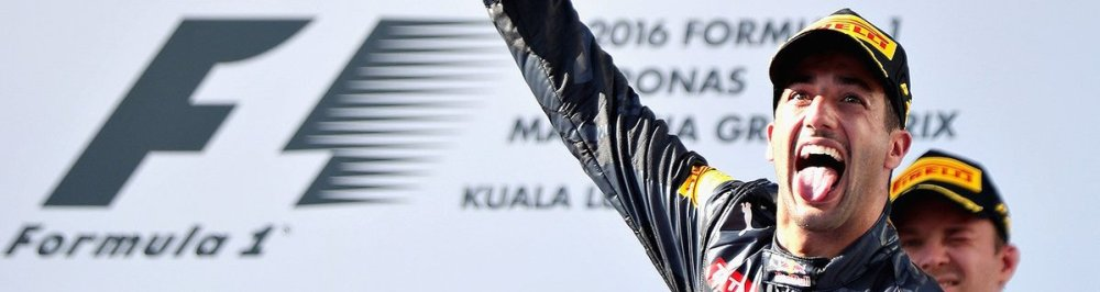 Ricciardo celebrates Malaysian GP victory. Copyright Red Bull racing.
