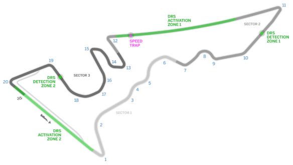 Circuit of the Americas track guide. Copyright Formula1.com