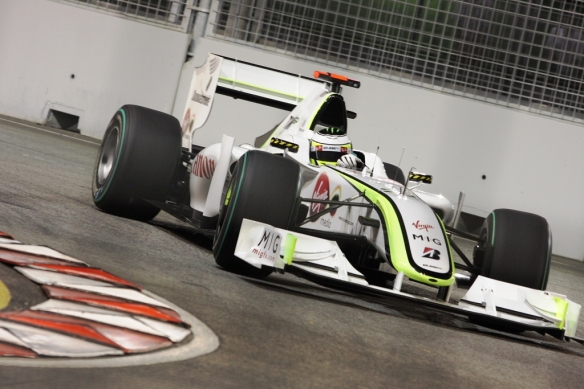 Jenson Button, racing for BrawnGP, in his 2009 championship winning season. Photo Credit: Sam Badeo