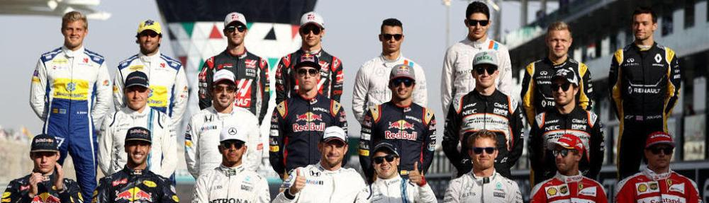 The Class of 2016 F1 Drivers photo before the Abu Dhabi Formula One Grand Prix at Yas Marina Circuit on November 27, 2016 in Abu Dhabi, United Arab Emirates.