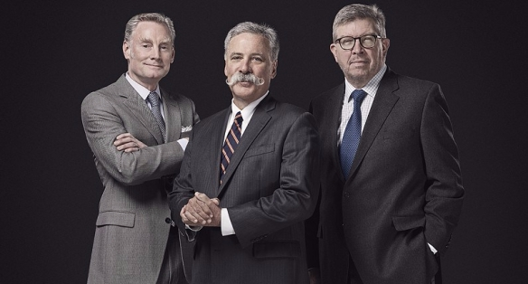 Sean Bratches, Chase Carey, Ross Brawn - (c) Liberty Media