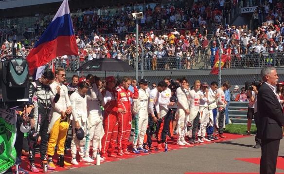 Russian GP national anthem - ferrari
