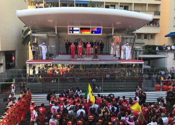 Monaco GP 2017 podium ferrari https://twitter.com/ScuderiaFerrari/status/868829963826450432
