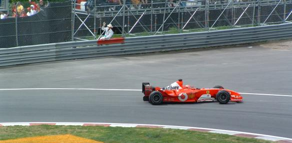 Schumacher during a victorious 2003 Canadian Grand Prix - Photo credit Tobi Theobald