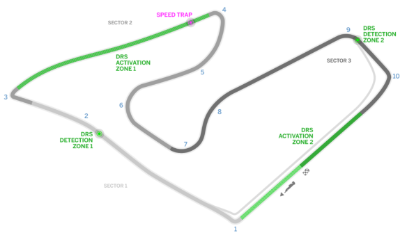 Red Bull Ring track map - Formula1.com